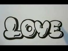 Coloring Pages Of Fancy Alphabet Letters : How to draw love in bubble letters write love in graffit letters