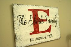Custom Name Sign Personalized Name Sign Family by RusticlyInspired