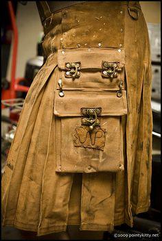 Steampunk Welder's Kilt by altkilt on Etsy Chat Steampunk, Costume Steampunk, Steampunk Theme, Style Steampunk, Steampunk Clothing, Steampunk Fashion, Kilt Pattern, Look Fashion, Mens Fashion