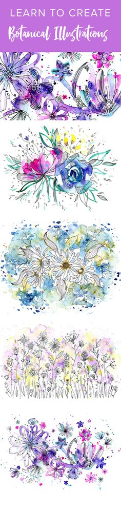 In this class I'll show you how to use simple doodles & loose watercolor washes to create gorgeous botanical & floral illustrations!! This class is super fun for artist's of any level, especially beginners, and will teach you tons of tips & tricks! I'll quickly teach you everything you need to get started, from supplies to painting and doodling techniques, and then I'll walk you through four fun and magical projects.