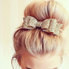 Fun Bow accessory for #hair and long hair buns