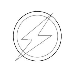 Coloring The flash logo of Barry Allen picture liked on