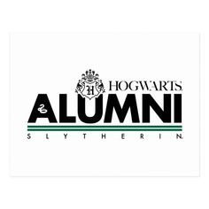 Harry Potter | HOGWARTS™ Alumni SLYTHERIN™ Postcard | Zazzle.com