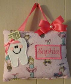 Tooth Fairy Pillows in Special Occasions - Etsy Kids Tooth Pillow, Tooth Fairy Pillow, Teeth, Special Occasion, Reusable Tote Bags, Pillows, Etsy, Unique Jewelry, Handmade Gifts