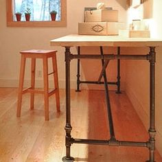 Exceptional Finally, A Free, Downloadable Plan For A Fab, Industrial Chic Table. DIY  Plans To Build This Cast Iron Table Base With Butcher Block Top.
