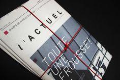 Journal l'Actuel by Louis-Pier Charbonneau, via Behance