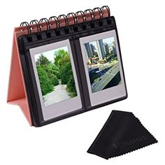 Sunmns Desk Table Calendar Style Photo Album for Fujifilm Instax Mini 7s 8 25 50s 70 90 26 9/ Polaroid Z2300 PIC-300P Snap Zip Films, Pink Review