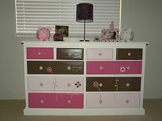 The girls dresser I painted and stenciled.