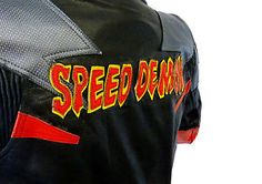 Baby-Biker-Speed-Demon-Kids-Motorcycle-Mini-Moto-Full-Leather-Race-Suit-Red-T