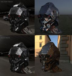 Mech helmet ZBrush sculpt (plus game res real time renders!) - Page 2 Advanced Warfare, Texture Painting, Zbrush, Sculpting, Helmet, Darth Vader, Illustration, 3d, Fictional Characters