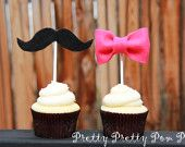 Baby Shower Cupcake Toppers - Girl Baby Shower- Boy Baby Shower - Gender Reveal Party