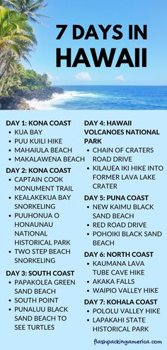 Things to do on the Big Island Hawaii - US outdoor vacation places
