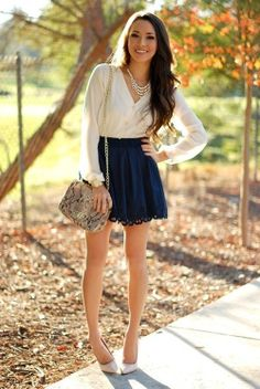 Beautiful and drapey but still tailored. Love a classy look for senior portraits! Cute Fashion, Fashion Beauty, Girl Fashion, Fashion Outfits, Womens Fashion, Fashion Trends, Fashion Styles, Style Fashion, Hapa Time