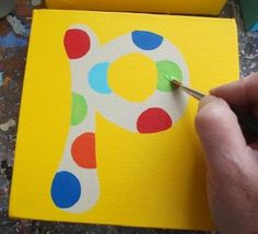 Tutorial: How to Paint Children's Name Canvases