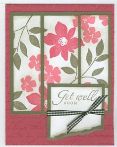 """Best Blossoms """"Get Well Soon"""" by craftkrazy - Cards and Paper Crafts at Splitcoaststampers"""