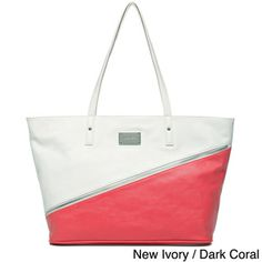 Nine West 'Block Out' Color Block Tote Bag | Overstock.com Shopping - Great Deals on Nine West Tote Bags