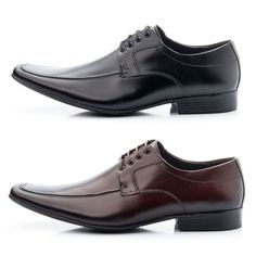 Sapato social masculino estilo italiano de amarrar preto