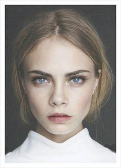 Blue eyes pink lips