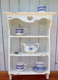 Shabby Cottage Chic Shelves Shelf Furniture by WeeLambieVintage, $75.00