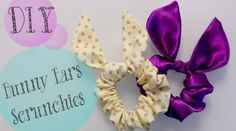 DIY TopShop Bunny Ears Scrunchies - I have a busy week of scrunchie making ahead of me! Bunny Crafts, Diy Crafts, Easter Crafts, Diy Projects To Try, Sewing Projects, Diy Accessoires, Diy Hair Accessories, Easter Gift, Easter Bunny