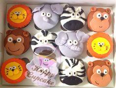 Zoo Cupcakes !! Zoo Cupcakes, Zoo Cake, Themed Cupcakes, Noahs Ark Cake, Zoo Birthday, Cake Ideas, Party Planning, Desserts, Food