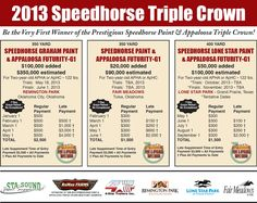 4-Star Trailers, Inc. is proud once again to be the Official Trailer Sponsor of the Speedhorse Paint & Appaloosa Triple Crown!!