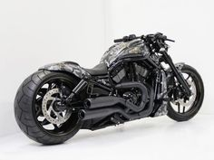 """Harley Davidson V Rod """"Camouflage"""" by Cult-Werk. Discover all our Custom Bikes and enjoy all our Streetfighter & Muscle Tuned around the world. Harley Davidson Night Rod, Harley Davidson Bikes, Night Rod Custom, Night Rod Special, How Big Is Baby, Big Baby, Motorcycle Art, Kustom, Custom Bikes"""