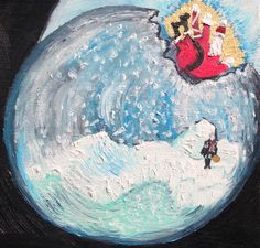 """Check out Mary's new blog post, Learning to Step Outside the Snow Globe of the Mind. http://www.maryomalley.com/…/learning-to-step-outside-the-…/ Art image:section of the oil painting """"Snow Gobe"""" by Lisa Kramer. http://fineartamerica.com/profiles/lisa-kramer.html"""
