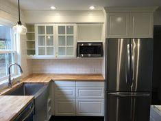 I spy a bright white cabinet door at IKEA! Ikea Cabinets, White Cabinets, Kitchen Cabinets, White Ikea Kitchen, Kitchen Reno, Kitchen Ideas, Cabinet Doors, Decoration, Backsplash