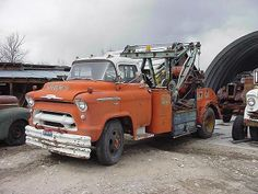 1956 Chevrolet COE Wrecker     all the local car & truck agencies had wreckers about like this one....