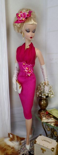 Cirera Bonica for Silkstone Barbie and Victoire by MatisseFashions, $85.00 Vintage Barbie Dolls, Barbie I, Barbie Dress, Barbie World, Barbie Clothes, Barbie Outfits, Ken Doll, Barbie Patterns, Barbie Collector