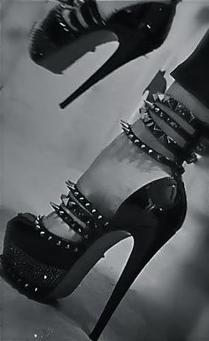 spikes, heels, stillettos, pumps - for when you're feeling badass ;) where were these for my birthday