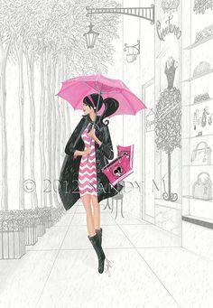 Illustrator SANDY M for Posh Frosting Rain Boots {featured via Ooh La Frou Frou}