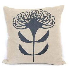 Pincushion Print in Charcoal on textured linen cushion Pincushion Print in Charcoal on tex Fabric Painting, Paint Fabric, Protea Flower, Australian Flowers, Flower Artwork, Pin Cushions, Pillows, Soft Furnishings, Flower Designs