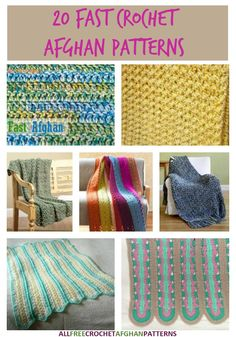 UPDATED COLLECTION: Free and super fast crochet afghan pattens to make for every room in your home!