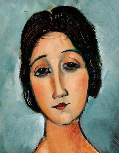 Amedeo Modigliani (1884-1920) Christina signed (upper right) oil on canvas 80 x 69 cm. (31.5 x 27 1/8 in.) Executed circa 1916