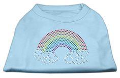 Rhinestone Rainbow Shirts Baby Blue M (12)