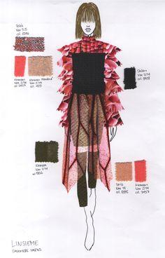 Fashion Illustraiton for Feel the Yarn 2018 / Cathrin Baer Theme: Hybridisation Feelings, Knitting, Fashion, Textile Design, Moda, Tricot, Fashion Styles, Cast On Knitting, Stricken