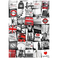 Printed canvas London montage wall art - Canvases - Home accessories - Home & furniture -