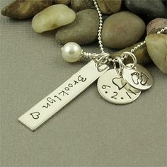 Mom Necklace Personalized Hand Stamped by BaWStampedDesigns, $39.00