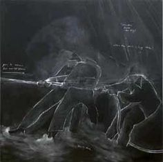Tacita Dean The Roaring Forties: Seven Boards in Seven Days (Board 1997 Seven parts, chalk on blackboard 2400 x 2400 mm each Blackboard Chalk, Chalk Art, Museum Studies, Berlin, Gcse Art, Work Inspiration, Texture Art, Online Art, Art History