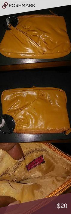 Lulu Gold Wristlet New! Faux Leather Lulu Bags Clutches & Wristlets
