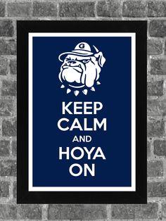 Keep Calm Georgetown Hoyas NCAA Print Art 11x17. $14.99, via Etsy.