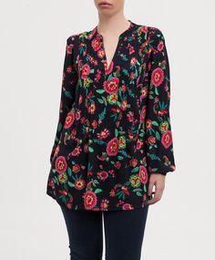 Blusa estampada JONES NEW YORK Bataan, Blouse Patterns, Best Gifts, Tunic Tops, Clothing, Swimwear, Beautiful, Shoes, Dresses