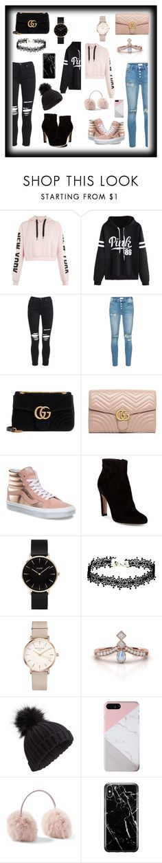 """""""Which one?"""" by pugicorns ❤ liked on Polyvore featuring WithChic, AMIRI, Mother, Gucci, Vans, Gianvito Rossi, CLUSE, ROSEFIELD, Miss Selfridge and Recover"""