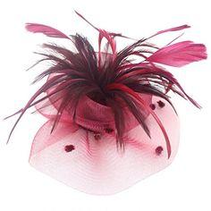 Uryouthstyle Garnet Feather Party Hat Fascinators Hair Pillbox Wedding Accessory Uryouthstyle http://www.amazon.com/dp/B01EC1HABO/ref=cm_sw_r_pi_dp_.XAfxb1XKC6PV