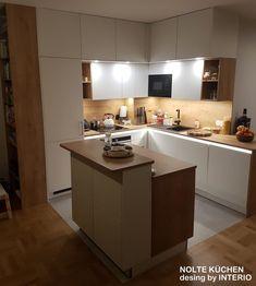 Kitchen Cabinet Drawers, Best Kitchen Cabinets, Kitchen Reno, New Kitchen, Kitchen Interior, Home Interior Design, Kitchen Design, Decorating Small Spaces, Cool Kitchens