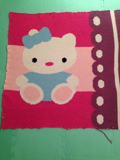 Ravelry: Nathalieke28's Kitty Cat Baby Blanket  She still needs whiskers