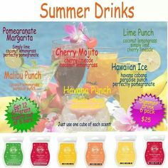 Perfect Summer Set! 6 Bars for $25 {plus tax and sh} Scentsy - We Make Perfect Scents! To purchase, visit https://tracieaster.scentsy.us #scentsy #home #fragrance