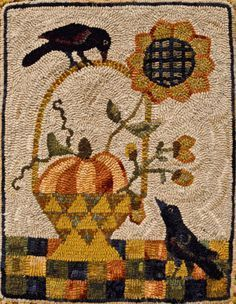 Autumn Gold by Lin Wells - Pattern Only or Complete Rug Hooking